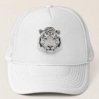 Boné Chapéu branco do camionista da cabeça do tigre