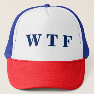 Boné Chapéu branco dos EUA WTF & azul vermelho do