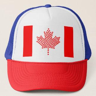Boné Chapéu branco vermelho dos camionistas da folha de