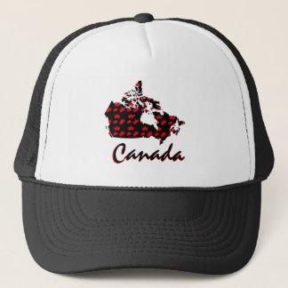 Boné Chapéu canadense de Canadá do bordo vermelho do
