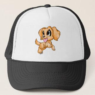 Boné Chapéu colorido tirado mão da arte do cão do