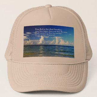 Boné Chapéu com mensagem inspirada sobre nuvens