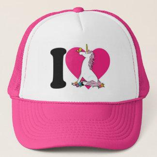 Boné Chapéu cor-de-rosa do camionista do unicórnio
