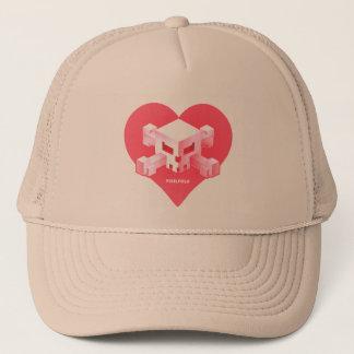 Boné Chapéu Coração-Dado forma | do logotipo do jogo de