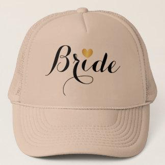 Boné Chapéu - coração Tan do roteiro da noiva