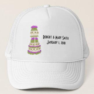 Boné Chapéu customizável do bolo de casamento