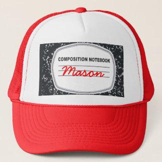 Boné Chapéu customizável do camionista do caderno da