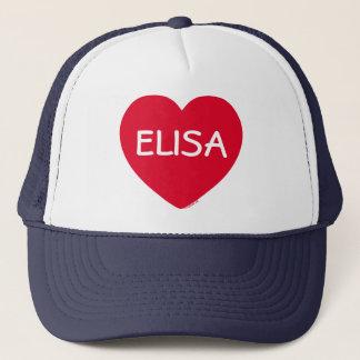 Boné Chapéu customizável do coração vermelho grande
