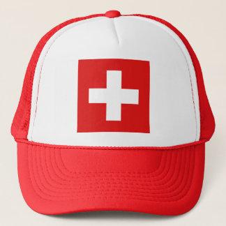 Boné Chapéu da bandeira da suiça