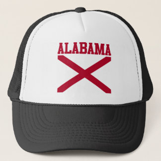 Boné Chapéu da bandeira do estado de Alabama
