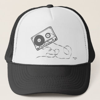 Boné Chapéu da cassete de banda magnética