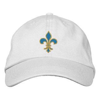 Boné Chapéu da flor de lis do azul e do ouro