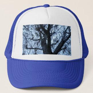 Boné Chapéu da fotografia da silhueta da árvore