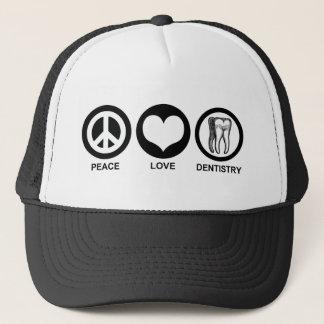 Boné Chapéu da odontologia do amor da paz
