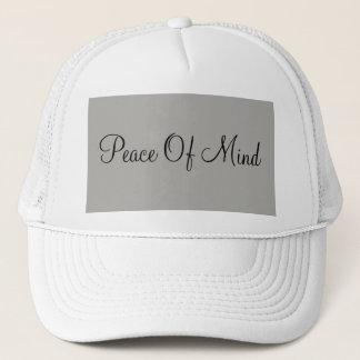 "Boné Chapéu da ""paz de espírito"""