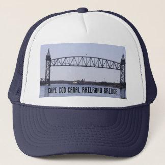 Boné Chapéu da ponte da estrada de ferro do canal de
