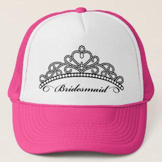 Boné Chapéu da tiara da dama de honra