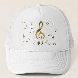 Boné Chapéu das notas musicais do ouro