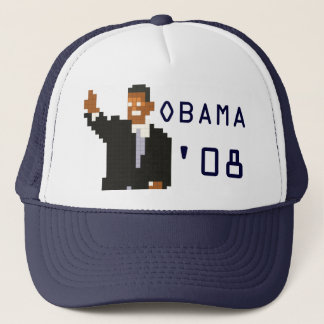 Boné Chapéu de 08-Bit de Obama '
