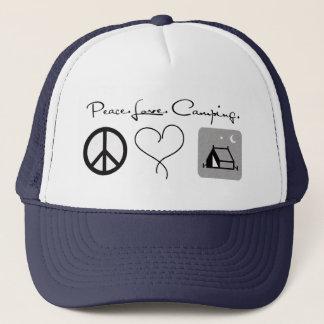 Boné Chapéu de acampamento do camionista do amor da paz