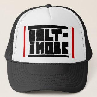 Boné Chapéu de Baltimore preto/branco/vermelho