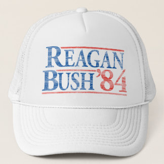 Boné Chapéu de campanha afligido de Reagan Bush '84