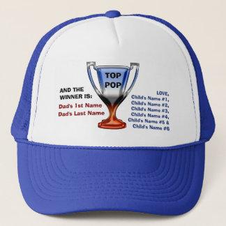 Boné Chapéu de coco superior da cabeça do troféu do pop
