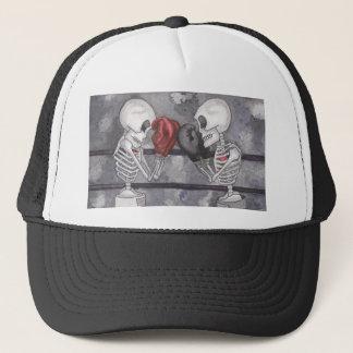Boné Chapéu de esqueleto do camionista do