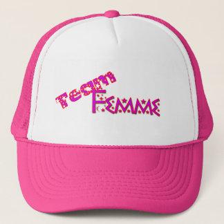 Boné Chapéu de Femme da equipe
