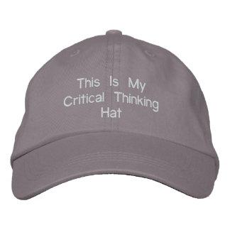 Boné Chapéu de pensamento crítico