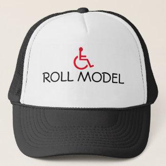 Boné Chapéu deficiente do camionista da cadeira de