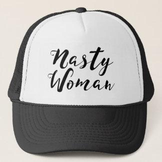 Boné Chapéu desagradável do camionista da mulher