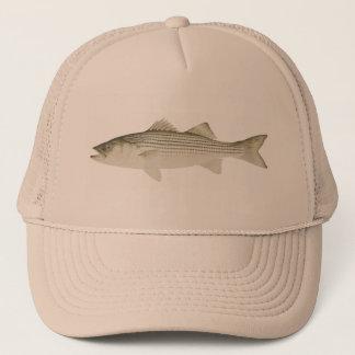 Boné Chapéu do baixo listrado