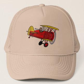 Boné Chapéu do biplano -- vermelho