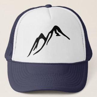 Boné Chapéu do camionista com montanhas