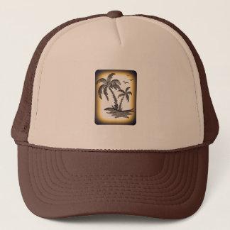 Boné Chapéu do camionista com palmeiras