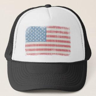 Boné Chapéu do camionista da bandeira americana do