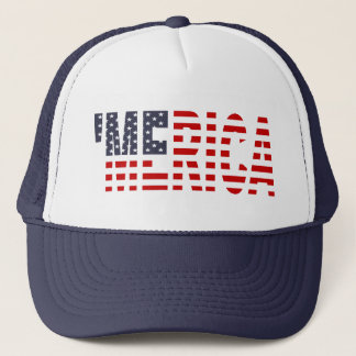 Boné 'Chapéu do camionista da bandeira de MERICA E.U.