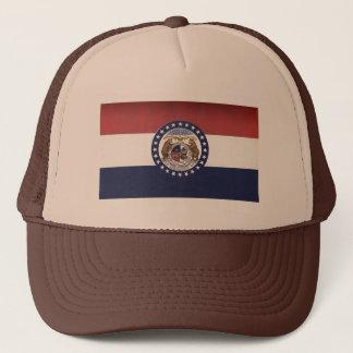 Boné Chapéu do camionista da bandeira de Missouri