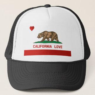 Boné Chapéu do camionista da bandeira do estado do amor