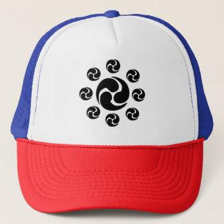 Boné Chapéu do camionista da crista de Japão