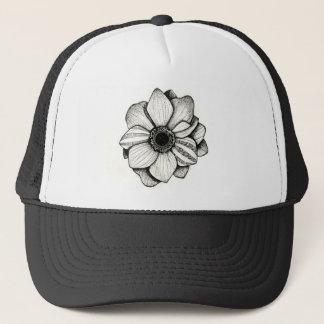 Boné Chapéu do camionista da flor de Dotwork