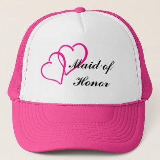 Boné Chapéu do camionista da madrinha de casamento