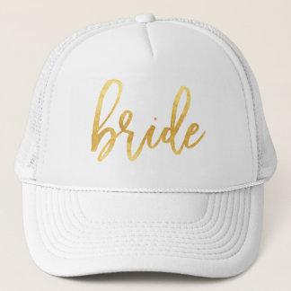 Boné Chapéu do camionista da noiva do ouro