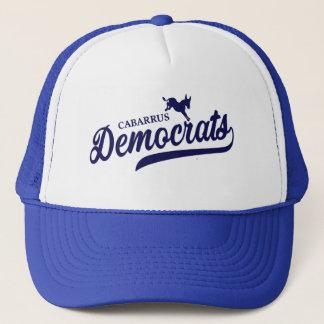 Boné Chapéu do camionista de Cabarrus Democratas