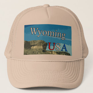 Boné Chapéu do camionista de Wyoming EUA