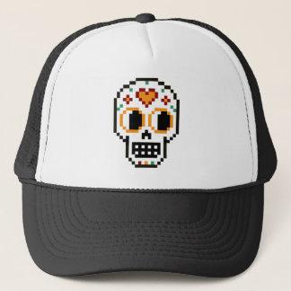 Boné Chapéu do camionista: dia de 8 bits do crânio