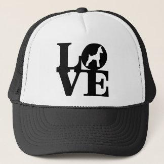 Boné Chapéu do camionista do amante do CÃO