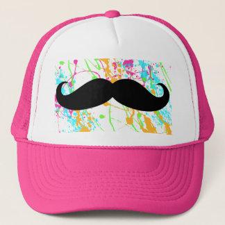 Boné Chapéu do camionista do bigode do rosa quente