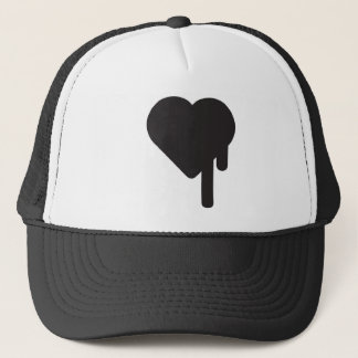 Boné chapéu do camionista do coração do myblackheart